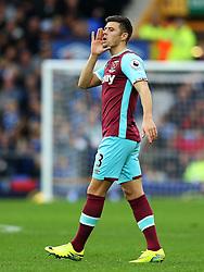 Aaron Cresswell of West Ham United - Mandatory by-line: Matt McNulty/JMP - 30/10/2016 - FOOTBALL - Goodison Park - Liverpool, England - Everton v West Ham United - Premier League