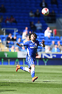 Fabio Da Silva of Cardiff city in action. Skybet football league championship, Cardiff city v Millwall at the Cardiff city stadium in Cardiff, South Wales on Saturday 18th April 2015<br /> pic by Andrew Orchard, Andrew Orchard sports photography.