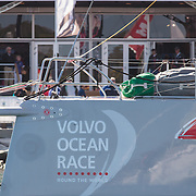 This edition of the Volvo Ocean Race is the 12th running of the 40-year-old event, which started in 1973 as the Whitbread Round the World Race.<br /> <br /> The race started on October 4, 2014, day of the first In-Port Race in Alicante, Spain, and will finish with one last In-Port Race on June 27, 2015 in Gothenburg, the Swedish home of Volvo.<br /> <br /> The 38,739-nautical mile route will include stopovers in Cape Town (South Africa), Abu Dhabi (UAE), Sanya (China), Auckland (New Zealand), Itajaí (Brazil), Newport (Rhode Island, US), Lisbon (Portugal) and Lorient (France). A 24-hour pit-stop in The Hague is scheduled between France and Sweden.<br /> <br /> This and the next edition will be contested in a new high-performance boat, the Volvo Ocean 65, designed by Farr Yacht Design in the United States and built by a consortium of boatyards in the United Kingdom, France, Italy and Switzerland.<br /> <br /> Seven teams have been announced for the 12th edition. The all-female Team SCA are the first all-women's team to compete in the race since 2001-02. Abu Dhabi Ocean Racing are once again skippered by Britain's twice Olympic silver medallist Ian Walker. Dongfeng Race Team come from China and are backed by Dongfeng Commercial Vehicle. Team Brunel from the Netherlands are skippered by race veteran Bouwe Bekking. Team Alvimedica with a double flag (Turkey/USA) will be headed by Rhode Island's Charlie Enright. A Spanish team was announced in June and is backed by insurance giant MAPFRE. Denmark's Team Vestas was the final boat to be announced in August. Chris Nicholson will be skipper.
