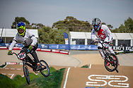 #901 (BIAS Michael) NZL and #373 (BLANC Renaud) SUI at Round 1 of the 2020 UCI BMX Supercross World Cup in Shepparton, Australia