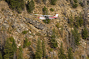 A couple from Germany came to America, purchased this Cessna 152, and were spending a year flying it around the United States and visiting various airshows and tourist areas. They were following us to Sulphur Creek, ID airstrip.