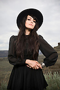 Kristen Control of the Dum Dum Girls poses for a portrait backstage at the Sasquatch Music Festival on May 26th, 2012.