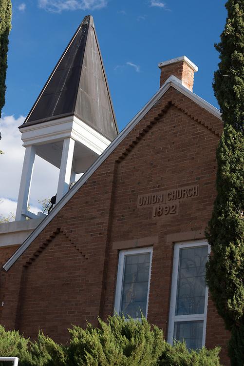 The Union Church in Hilsboro, New Mexico.