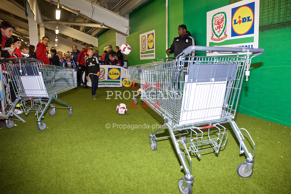 CARDIFF, WALES - Saturday, November 12, 2016: Lidl Play More Football activity before the 2018 FIFA World Cup Qualifying Group D match between Wales and Serbia at the Cardiff City Stadium. (Pic by David Rawcliffe/Propaganda)