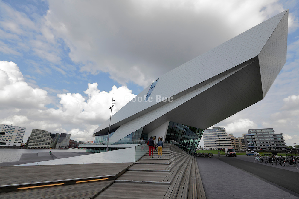 Amsterdam modern architecture design The new Filmmuseum Eye on the banks of het Ij.