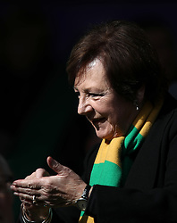 Norwich City's joint majority shareholder Delia Smith in the stands