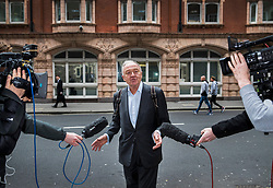 © Licensed to London News Pictures. 31/03/2017. London, UK. Former Mayor of London Ken Livingstone is surrounded cameras as he arrives at Church House for the second day of a Labour Party disciplinary hearing hearing. Mr Livingstone has been accused of anti-Semitism after comments he made in April 2016 claiming that Hitler supported Zionism in the 1930's. Photo credit: Peter Macdiarmid/LNP