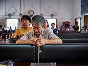 06 MARCH 2019 - BANGKOK, THAILAND:  There are about 300,000 Catholics in Thailand in about 430 Catholic parishes and about 660 Catholic priests in Thailand. Thais are tolerant of other religions and although Thailand is officially Buddhist, Catholics are allowed to freely practice and people who convert to Catholicism are not discriminated against.     PHOTO BY JACK KURTZ