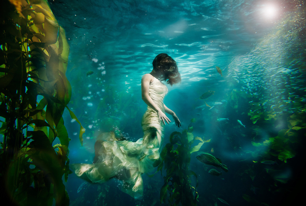 """""""UnderCurrents"""" A surrealistic underwater photography series by Nate Dorn."""
