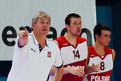 Ales Pipan, head coach of Poland, with players Michal Gabinski and Piotr Pamula of Poland at exhibition game between Slovenia and Poland for Primus Trophy 2011Lithuania as part of exhibition games before European Championship L2011on July 23, 2011, in Ljudski Vrt, Ptuj, Slovenia. (Photo by Matic Klansek Velej / Sportida)