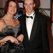 NLD/Amsterdam/20051222 - NOC / NSF Sportgala 2005, Edith van Dijk en partner Peter Schep