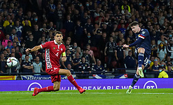 File photo dated 04-09-2021 of Scotland's Kevin Nisbet (right) shooting at goal. Kevin Nisbet is ready to get the call from Scotland boss Steve Clarke against the Faroe Islands on Tuesday night. Issue date: Monday October 11, 2021.