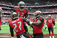 American Football - 2019 NFL Season (NFL International Series, London Games) - Tampa Bay Buccaneers vs. Carolina Panthers<br /> <br /> Ronald Jones 11 celebrates his touch down for Tampa Bay Buccaneers, at Tottenham Hotspur Stadium.<br /> <br /> COLORSPORT/ANDREW COWIE