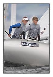 470 Class European Championships Largs - Day 6.GBR853, Anna BURNET, Flora STEWART, RNCYC.