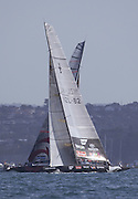 NZL82 crosses ahead of SUI64 on leg three of the second race of the America's Cup 2003. 16/2/2003 (© Chris Cameron 2003)