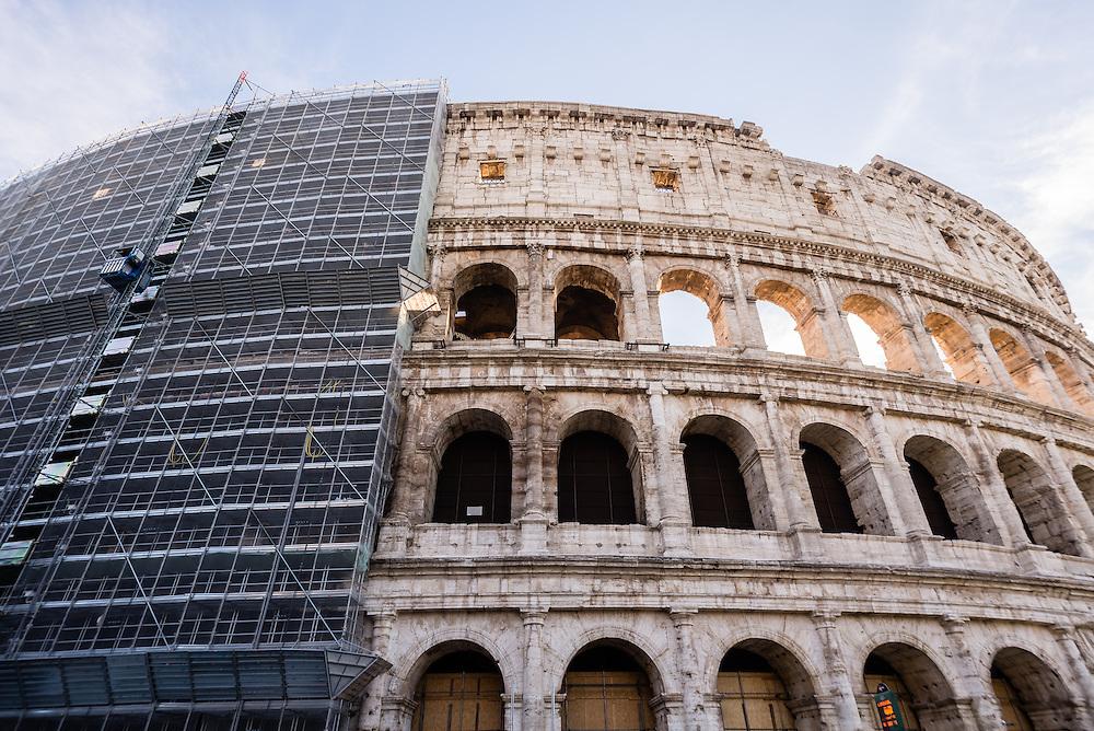 The Colosseum undergoing renovation, Rome