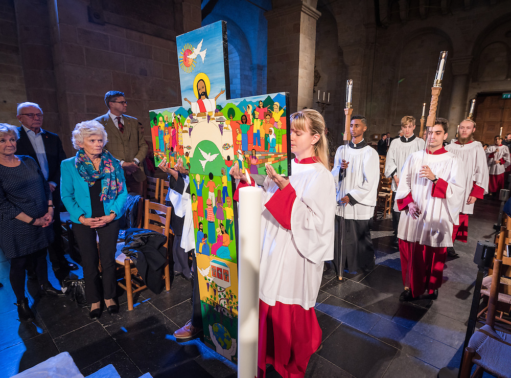 29 October 2016, Lund, Sweden: Dress rehearsal in Lund Cathedral, before Pope Francis' visit and the joint Catholic-Lutheran reformation commemoration on 31 October 2016.