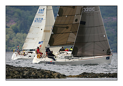Sailing - The 2007 Bell Lawrie Scottish Series hosted by the Clyde Cruising Club, Tarbert, Loch Fyne..The third days racing on Loch Fyne with a mix of weather from the North and West...Class 2 Troika 3201C.