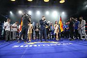 """Boxen: Blitz & Donner, IBO Intercontimeisterschaft & WBO Europameisterschaft,Superweltergewicht, Hamburg, 24.03.2018<br /> Sebastian Formella (GER) - Angelo """"Europa"""" Frank<br /> © Torsten Helmke"""