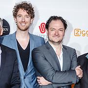 NLD/Amsterdam/20160307 - TV Beelden 2016, Niels van der Laan en Jeroen Woe, Joep van Deudekom en Rob Urgert.