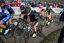 Annette Edmondson gets out of the saddle for the final metres to the top at Ronde van Drenthe 2017. A 152 km road race on March 11th 2017, starting and finishing in Hoogeveen, Netherlands. (Photo by Sean Robinson/Velofocus)
