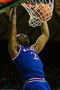 WACO, TX - JANUARY 7: Cliff Alexander #2 of the Kansas Jayhawks dunks the ball against the Baylor Bears on January 7, 2015 at the Ferrell Center in Waco, Texas.  (Photo by Cooper Neill/Getty Images) *** Local Caption *** Cliff Alexander