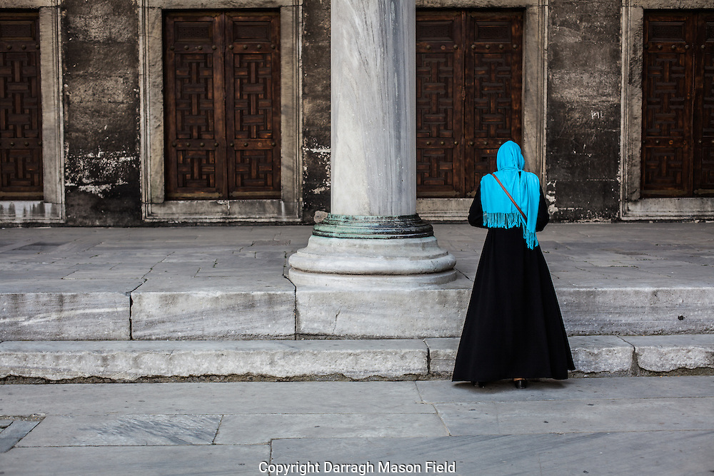 Blue scarf at the Blue Mosque