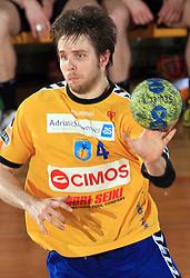 Milan Mirkovic of Cimos at Final match of Slovenian Men Handball Cup between RK Cimos Koper and RK Celje Pivovarna Lasko, on April 19, 2009, in Arena Bonifika, Koper, Slovenia. Cimos Koper won 24:19 and became Slovenian Cup Champion. (Photo by Vid Ponikvar / Sportida)