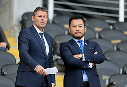 New Birmingham City manager Steve Cotterill (left) with Ceo Xuandong Ren