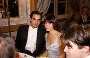 Zac Posen and Vanina Sorrenti. Crillon 2004 Debutante Ball. Crillon Hotel. Paris. 26 November 2004. ONE TIME USE ONLY - DO NOT ARCHIVE  © Copyright Photograph by Dafydd Jones 66 Stockwell Park Rd. London SW9 0DA Tel 020 7733 0108 www.dafjones.com