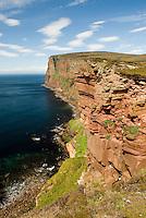 Sea cliffs on the Isle of Hoy Orkney Islands Scotland