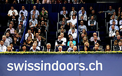 27.10.2012, St. Jakobshalle, Basel, SUI, ATP, Swiss Indoors, im Bild Die Plaetze sind voll wenn Roger Federer (SUI) spielt // during ATP Swiss Indoors Tournament at the St. Jakobshall, Basel, Switzerland on 2012/10/27. EXPA Pictures © 2012, PhotoCredit: EXPA/ Freshfocus/ Daniela Frutiger..***** ATTENTION - for AUT, SLO, CRO, SRB, BIH only *****
