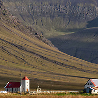 The lonely church of Kolbeinsstaðir is situated at the base of Snæfellsness peninsula and you can see it from Route 54.