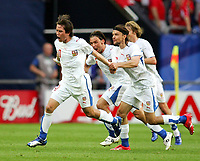 Jubel 0:2 v.l. Tomas Rosicky, Marek Jankulovski, Tomas Ujfalusi Tschechien<br /> USA - Tsjekkia<br /> Fussball WM 2006 USA - Tschechien<br /> Norway only<br /> Fotball VM
