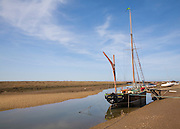 Sailing barge 'Juno' at Blakeney, Norfolk, England