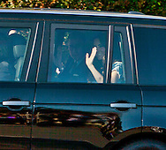 Prince William and his wife Katherine pull up to the Hancock Park home where they will be staying for their L.A. visit. They both waived to the crowd from their black Range Rover.