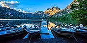 Dawn reflection at Silver lake dock