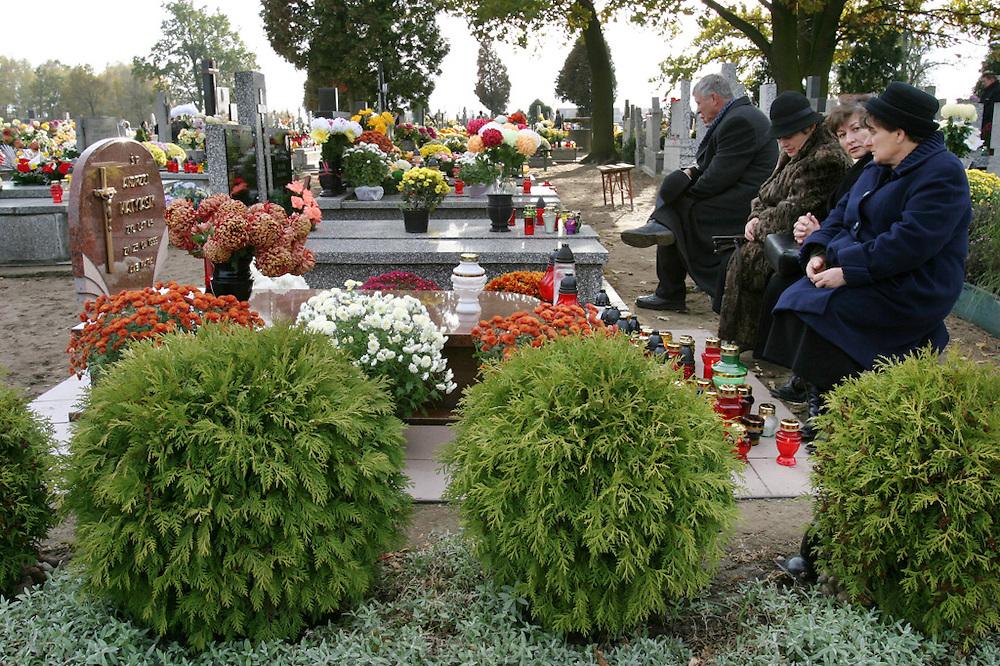 Kazimierz, Poland cemetery on All Saints Day.