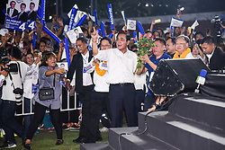 March 22, 2019 - Bangkok, Thailand - Thai Prime Minister Prayuth Chan-ocha of the Palang Pracharat Party delivers a speech to supporters during an election campaign rally in Bangkok. Thai premier and junta leader Prayut is running as a Prime Minister candidate for pro-junta political party Palang Pracharath. Thailand is set to hold a general election on 24 March 2019, the first poll in five years since the May 2014 military coup. (Credit Image: © Vichan Poti/Pacific Press via ZUMA Wire)