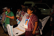 After travelling on bus during 476 km (295 milles) direction north from Villahermosa, Tabasco into Amatlán de los Reyes, Veracruz, the caravan of central american mothers  meet with Las Patronas, a local collective of women who brings free food and water to the migrants traveling in the train. (Photo: Prometeo Lucero)