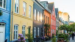 Colourful apartments in Christianshavn, Copenhagen, Denmark. 23/05/14. Photo by Andrew Tallon
