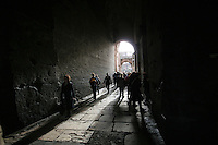 Tunnel leading into the Colosseum Rome Italy