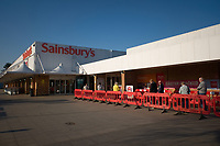 Sainsburys is  introducing limits on the number of people allowed in their stores at one time, and have urged shoppers to keep a safe distance from one another - in line with the government guidance.Photo by Michael Palmer