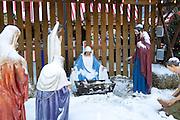Chicago Illinois USA, The birth of Jesus (Nativity) display. December 2007