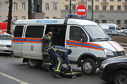 April 3, 2017 - Saint-Petersburg, Russia - Of The Russian Federation. Saint-Petersburg. Explosions in the St. Petersburg metro. The situation in the area of metro station ''Technological Institute'' in St. Petersburg after the incident of the explosion in the subway, on 3 April 2017. (Credit Image: © Russian Look via ZUMA Wire)