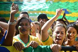 July 2, 2018 - Rio De Janeiro, Brazil - RIO DE JANEIRO, RJ - 02.07.2018: TWISTED TEAM MOVE IN RJ - Cariocas fans for the Brazilian team in the game against Mexico, this Monday (02) at Alzirão in Tijuca in the northern part of the city of Rio de Janeiro, RJ. (Credit Image: © Luiz Gomes/Fotoarena via ZUMA Press)