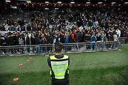 March 11, 2018 - Toulouse, France - Securite au bord du terrain à la fin du match (Credit Image: © Panoramic via ZUMA Press)