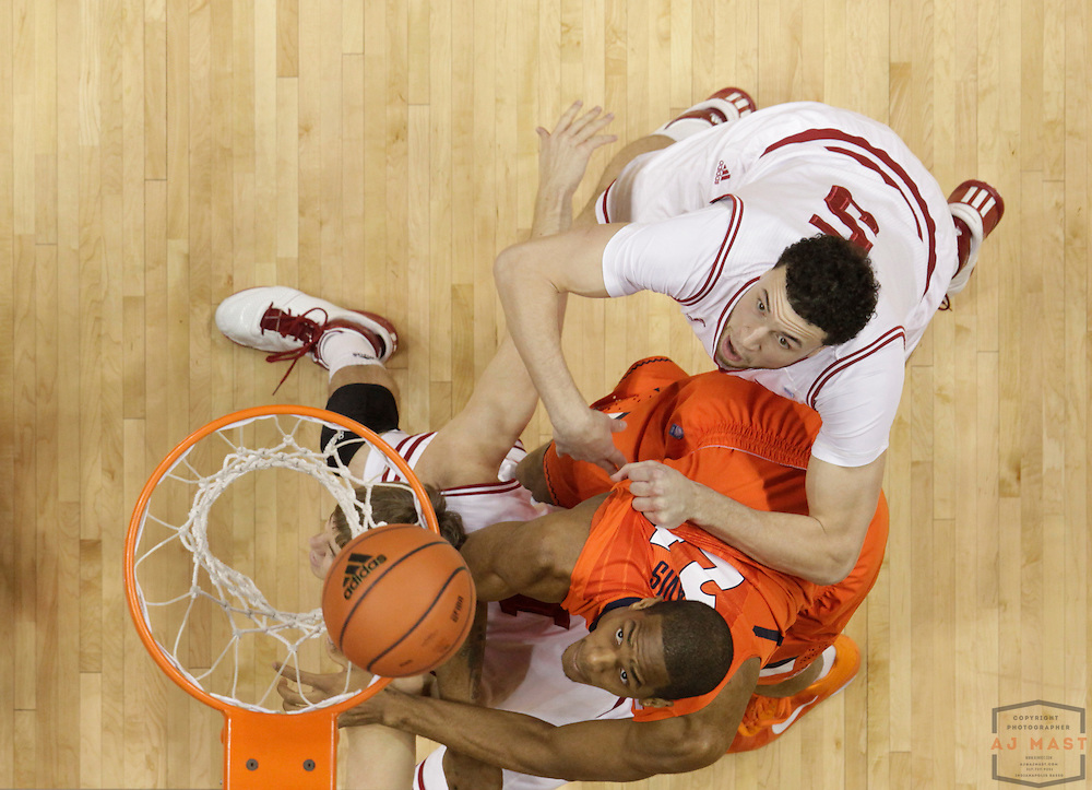 27 January 2011: Illinois Fighting Illini forward Mike Davis (24) as the Indiana Hoosiers played the Illinois Fighting Illini in a college basketball game in Bloomington, Ind.