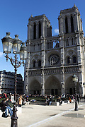 Front view of Notre Dame in Paris