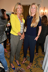 Left to right, MARINA FOGLE and LADY JUBIE WIGAN at a breakfast hosted by Zita West and Leo Bamford to launch a range of vitamins for babies & children held at the Royal Society of Medicine, Chandos House, 2 Queen Anne Street, London on 21st May 2015.